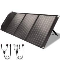 ROCKPALS RP081 60w Portable Solar Panel with Parallel Cable, Kickstand, USB-C and QC 3.0, Upgraded Foldable Solar Panel Charger for Jackery Power Station