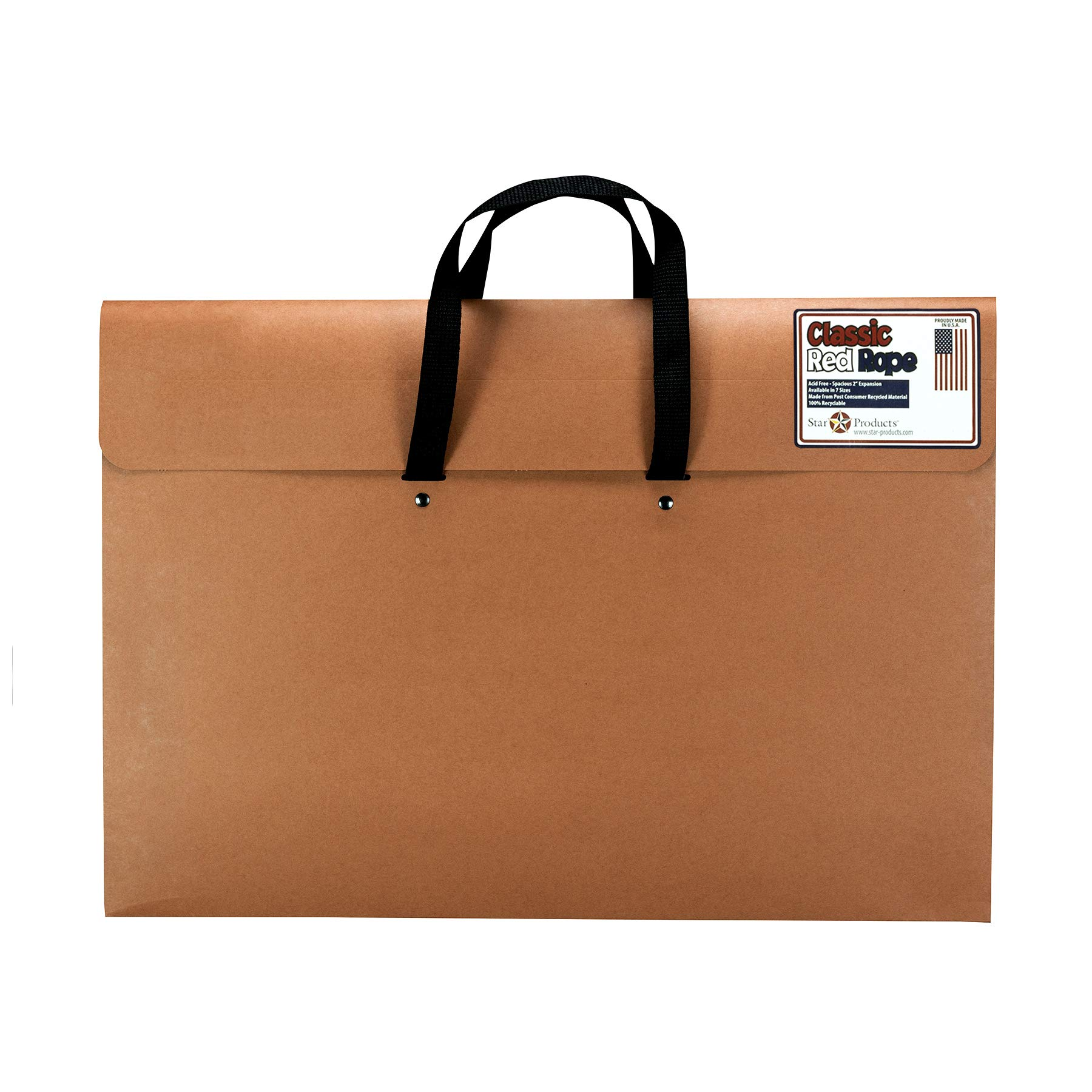 """Star Products Wallet Port Whandle 220H Classic Red Rope Paper Artist Portfolio with Soft Woven Handle, 20"""" x 26"""""""
