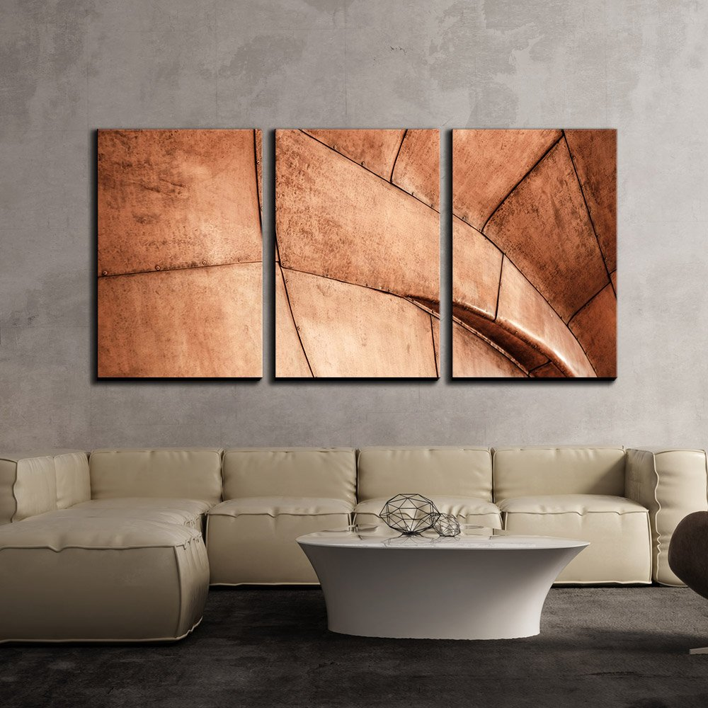 "wall26 - 3 Piece Canvas Wall Art - Retro Style of Geometric Construction - Modern Home Decor Stretched and Framed Ready to Hang - 16""x24""x3 Panels"