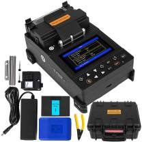Mophorn Precision Fusion Splicer Automatic Focus FTTH 4.3 Inch Digital LCD Screen with 8s Splicing Time Melting Fiber Optic Fusion Splicer 28s Preheating Fusion Splicer Machine Fiber Cleaver Kit