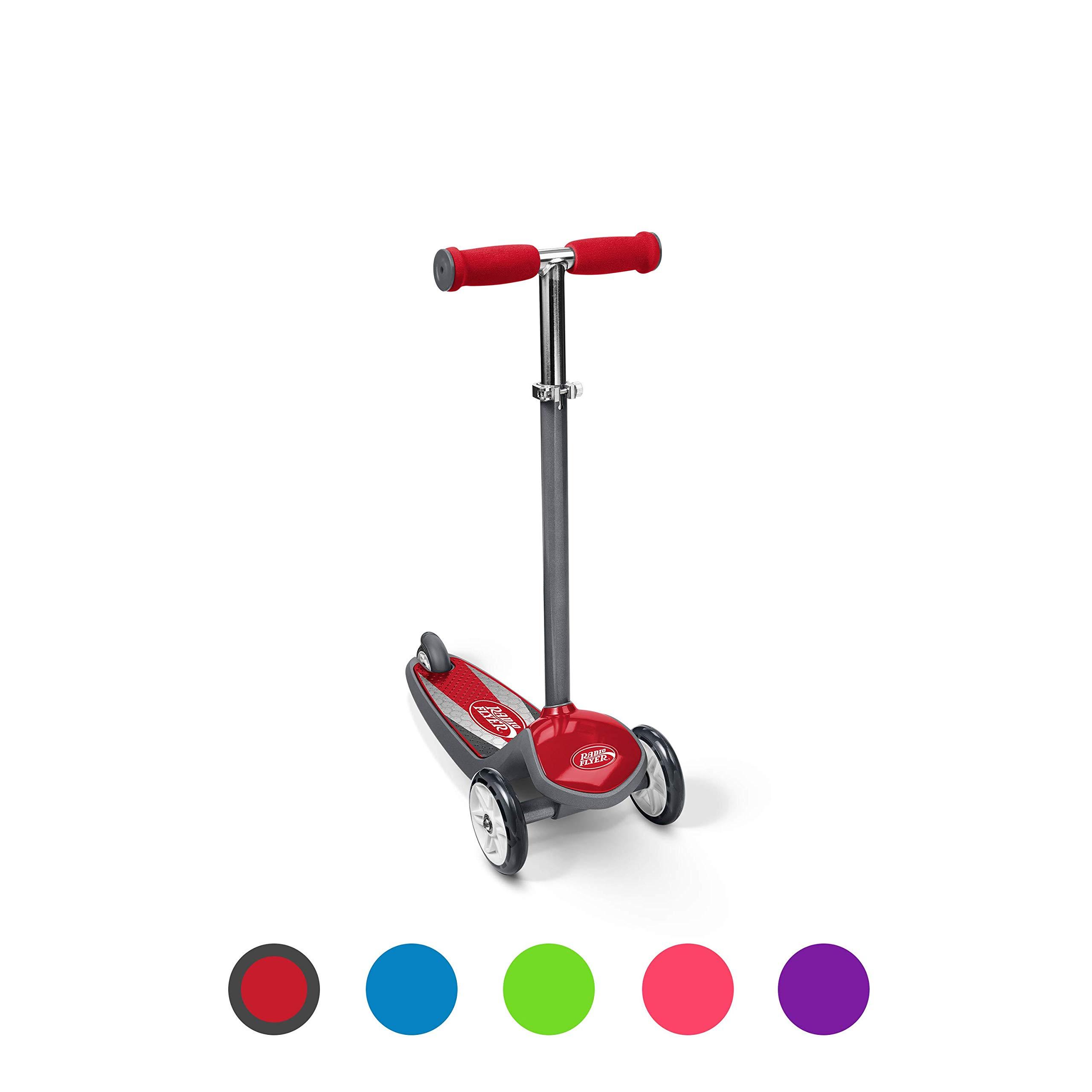 Radio Flyer Color FX EZ Glider 3 Wheel Scooter, Red