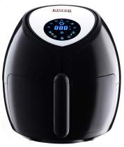 Kinger Home Air Fryer 1700 Watt 5.8 QT 8-in-1 LED Digital Touch Screen Large Hot Electric Air Fryers Oven & Oilless Fryer Cooker with Recipes Cookbook