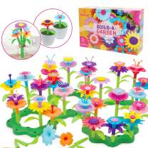Mochoog STEM Flower Garden Building Toys for Kids, Educational Outdoor Gardening Pretend Playset, 109 PCS Crafts for Toddlers Girls, Gifts for 3 4 5 6 Years Old Boys Girls