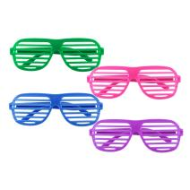12 Pairs of Plastic Shutter Glasses Shades Sunglasses Eyewear Party Props Assorted Colors