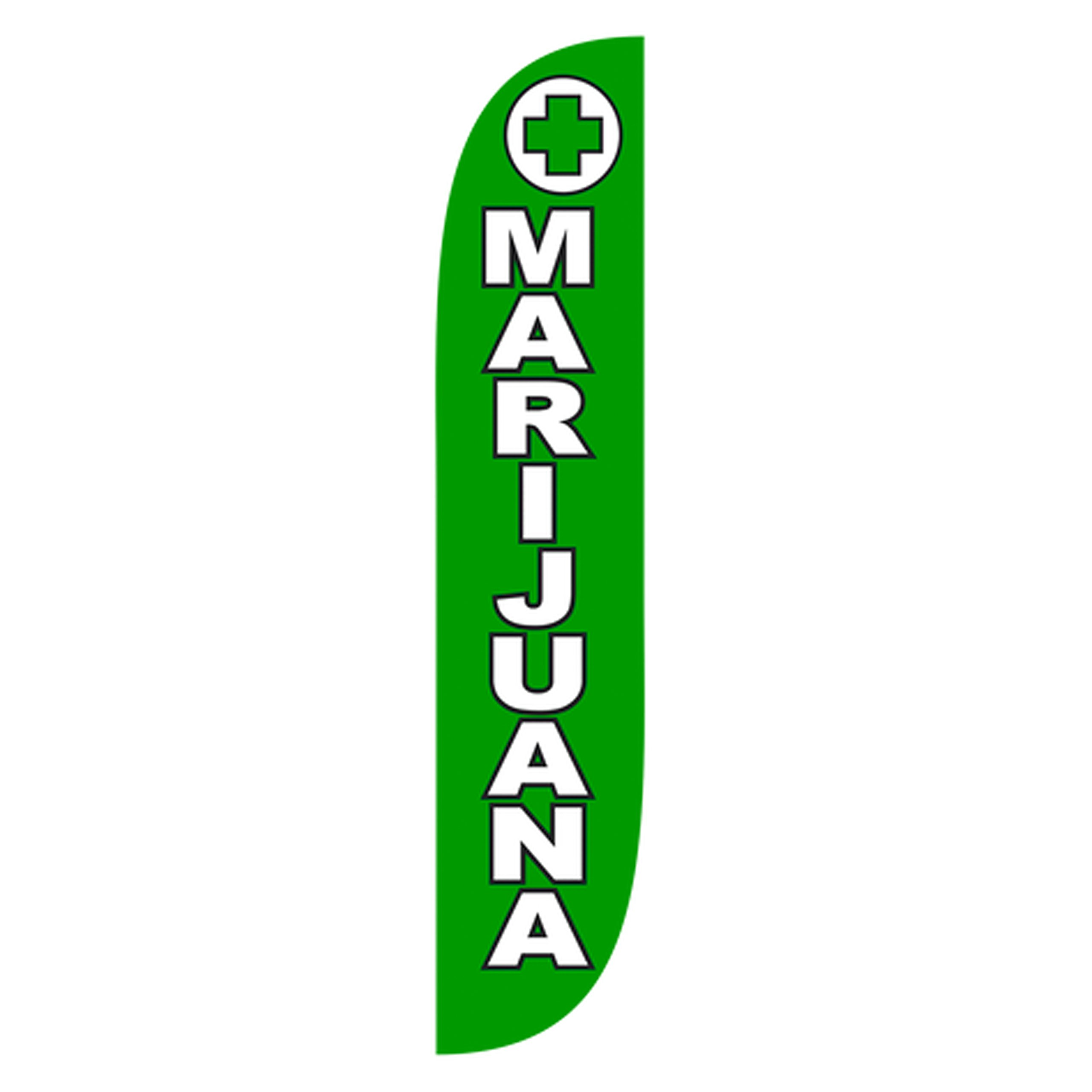 LookOurWay Dispensary, Vape and Smoke Shop Themed Feather Flag, 12-Feet (Hardware Not Included)