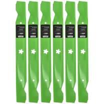 8TEN LawnRAZOR Hi Lift Blade for Ariens 42 Inch Cut Deck YT19H Hydro Gear Tractor 21546095 6 Pack