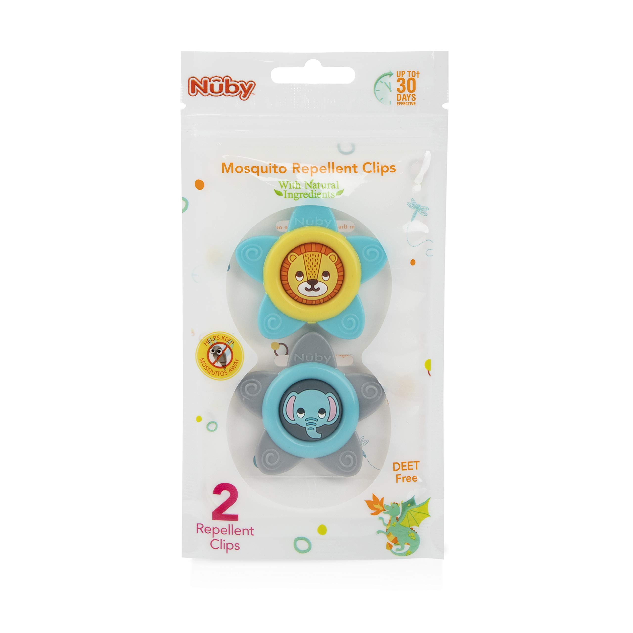nomo MOSQUITO Repellant Clip Pleasant Natural and Safe 1 clip protects for 30 days 100/% herbal protection for baby and kids