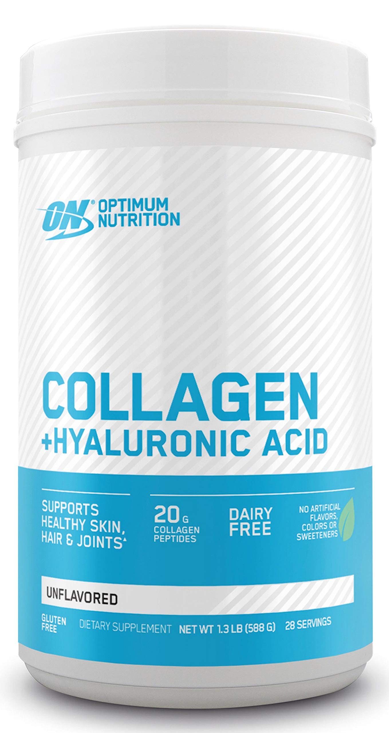 Collagen Peptides Powder By Optimum Nutrition, Vitamin C & D for Immune Support, 20g Hydrolyzed Collagen with Hyaluronic Acid, Unflavored, 28 Servings, Supports Healthy Skin, Hair & Joints