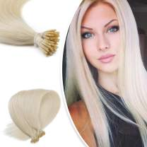 """Neitsi 20"""" 1g/s 25s/lot Fusion Glue Platinum Blonde I Tip/Stick Remy Human Hair Extensions (60#)"""