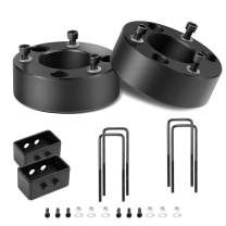 Kealive Lift Kit 3'' Front and 2'' Rear Leveling Lift Kits for Ford F150 2007-2019, Front Strut Spacers Raise The Front of Your F150 2 WD & 4WD 3 Inch, Black