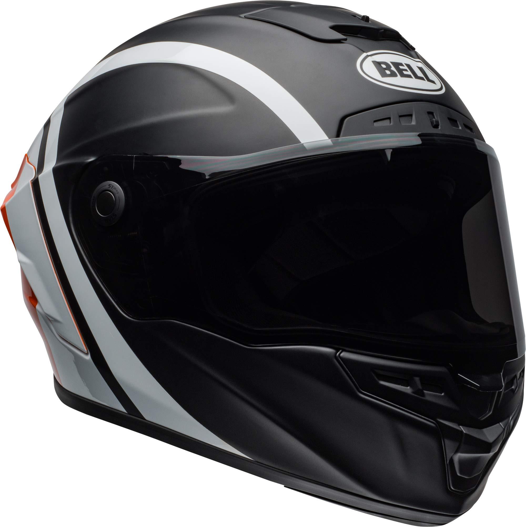 Bell Star MIPS Equipped Street Motorcycle Helmet (Tantrum Matte/Gloss Black/White/Orange, XX-Large)