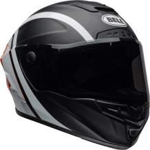 Bell Star MIPS Equipped Street Motorcycle Helmet (Tantrum Matte/Gloss Black/White/Orange, Large)