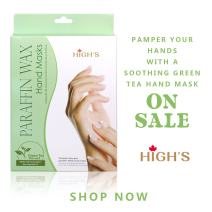 HIGH'S Home Spa Personal Skin Care Quick Heat Manicure Paraffin Wax Hand Mask Moisturizing Gloves, Green Tea