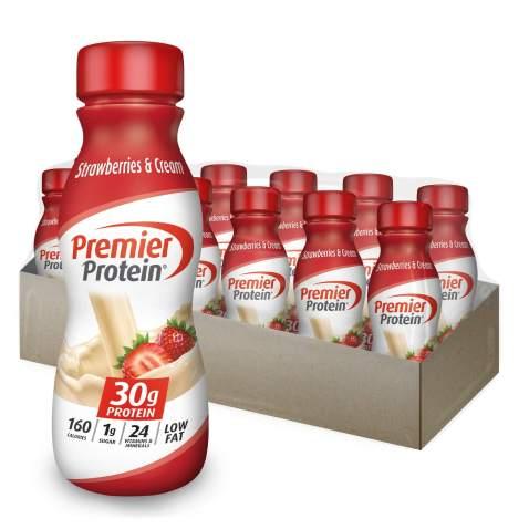 Premier Protein 30g Protein Shake, Strawberries & Cream, 11.5 Fl Oz (Pack of 12)