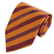 FashionOn Men' Fashionon Best Gift For Men Stripes Classic Fashion Woven Silk Tie Set