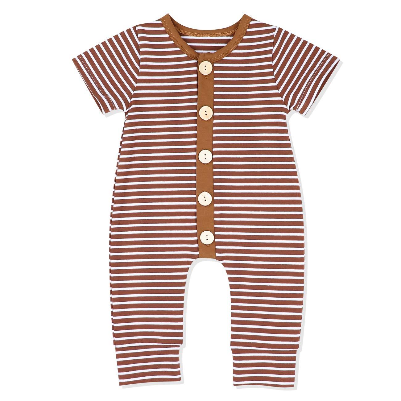 Newborn Baby Girls Ruffle Sleeve Romper Solid Onesie Jumpsuit with Headband Cotton Clothes Set