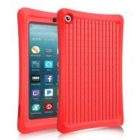 Benazcap Case for All-New 7 Inch Tablet 2019 - Lightweight Shockproof Anti Slip Soft TPU Case Protective Kids Cover for 2019 Tablet 7 Inch 9th Gen, Red