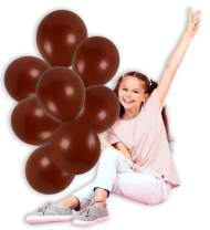 Matte Solid Brown Balloons Pack of 36 Thick Opaque Latex 12 Inch for Animal Jungle Safari Woodland Birthday Decor Engagement Wedding Bridal Shower Bachelorette Graduation Party Supplies
