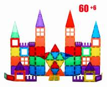 Giromag 66PCS Magnetic Block Building Sets for Kids, Magnetic Toys Stick and Stack for Toddlers Kids Age 3+ Magnetic Building Blocks, Magnetic Stem Toys
