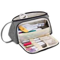 Luxja Bag for Cricut Pen Set and Basic Tools, Carrying Case for Cricut Accessories (Bag Only), Gray