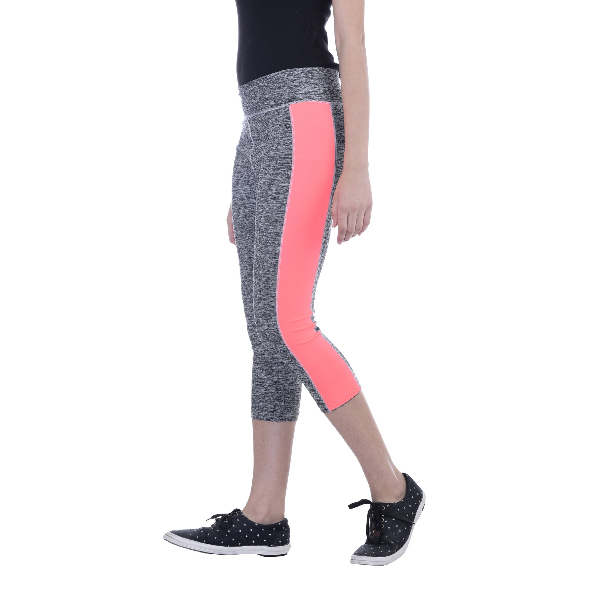Ezi Women's Athletic Yoga Workout Capri Leggings