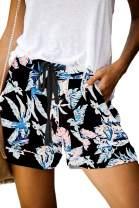QUEEN PLUS Womens Comfy Shorts Casual Elastic Waist Drawstring Pocketed Shorts Pants