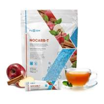 Fast Acting Carb Blocker by FuXion Nocarb-T Instant Drink Mix with Fiber Blend,Support Stable Blood Sugar After Rich Dinner,Anti-Absorb Glucose,Cholesterol Lowering Level (Apple Cinnamon, 28 Sachets)