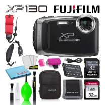 Fujifilm FinePix XP130 Waterproof Digital Camera (Silver) Best Value Accessory Bundle -Includes- 32GB SD Card + 16GB SD Card + Camera Case + Floating Wrist Strap + Deluxe Cleaning Kit + More