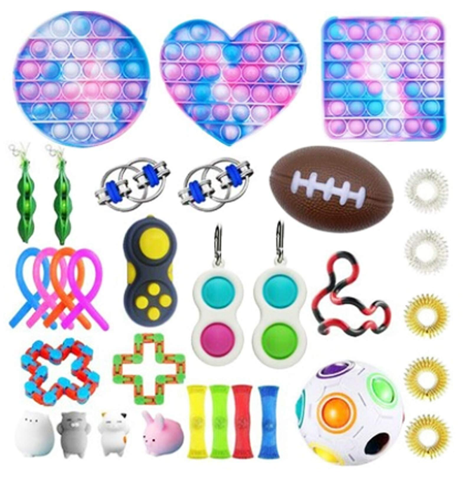 Komoo Fidget Pack Stress Relief Tools Bundle Sensory Figetget Toys for ADHD Autism Stress Anxiety (11)