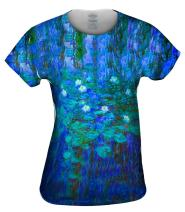 Yizzam- Claude Monet - Blue Water Lilies (1916) -Tshirt- Womens Shirt