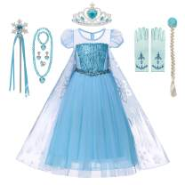 DOCHEER Princess Dress Up Blue Costume Halloween Party Dresses