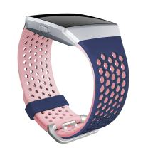 SKYLET Compatible with Fitbit Ionic Band, Soft Silicone Breathable Replacement Sport Wristband Compatible Fitbit Ionic Smartwatch Men Women Black