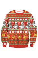 Kisscynest Women's Christmas Graphic Crew Neck Sweatshirt Long Sleeve Pullover Tops