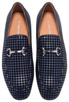 ELANROMAN Men's Dress Loafers Penny Leather Lined Luxury Wedding Shoes