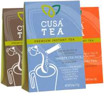 Cusa Tea: Variety Pack - Premium Instant Tea - Organic Tea, Real Fruit & Spices - No Sugar or Artificial Flavors, All the Polyphenols of Loose Leaf Tea - Ready in Seconds - Hot or Iced Tea