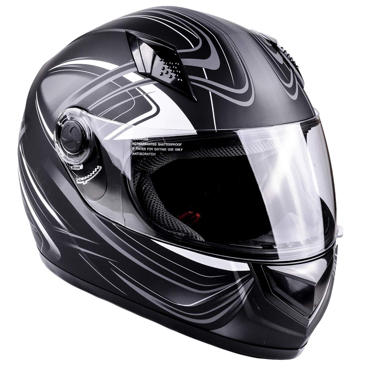 Typhoon Adult Full Face Motorcycle Helmet DOT - SAME DAY SHIPPING (Matte Grey, XXXL)
