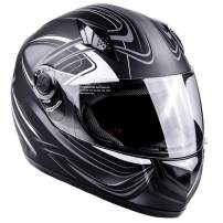 Typhoon Adult Full Face Motorcycle Helmet DOT - SAME DAY SHIPPING (Matte Grey, Small)