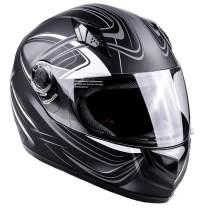 Typhoon Adult Full Face Motorcycle Helmet DOT - SAME DAY SHIPPING (Matte Grey, Medium)