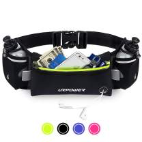 URPOWER Upgraded Running Belt with Water Bottle, Running Fanny Pack with Adjustable Straps, Large Pocket Waist Bag Phone Holder for Running Fits 6.5 inches Smartphones, Running Pouch