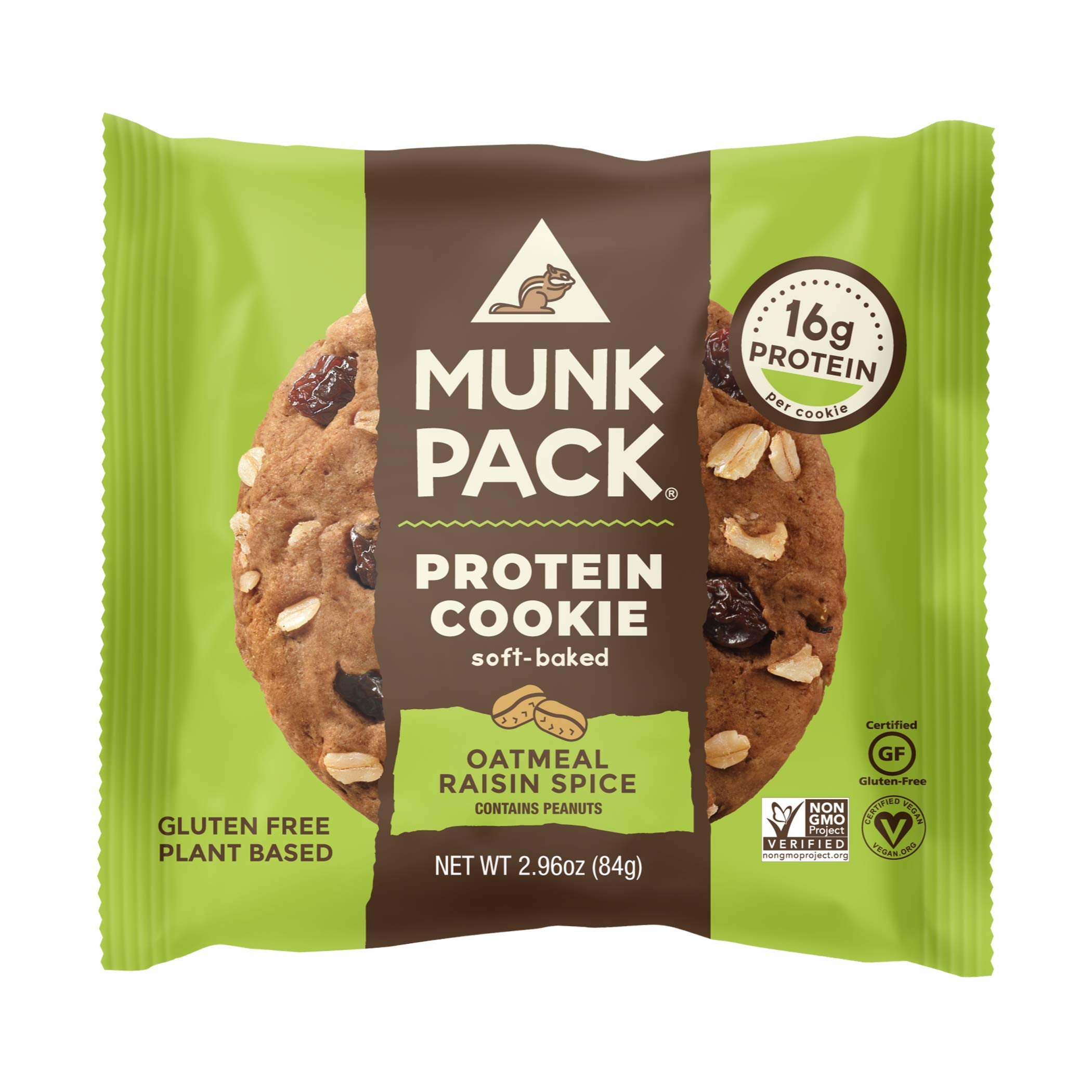 Munk Pack Protein Cookie (Pack of 12, Oatmeal Raisin Spice)