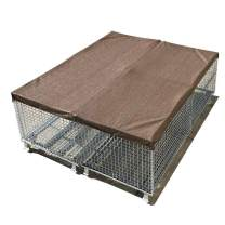 Alion Home Sun Block Dog Run & Pet Kennel Shade Cover - Hems & Grommets(Dog Kennel not Included) (8' x 8', Mocha Brown)