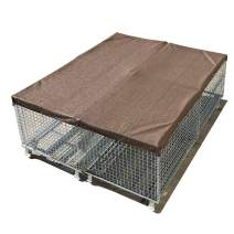 Alion Home Sun Block Dog Run & Pet Kennel Shade Cover - Hems & Grommets(Dog Kennel not Included) (12' x 4', Mocha Brown)