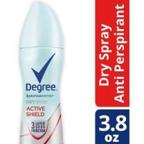 Degree Women Antiperspirant Deodorant Dry Spray, Active Shield 3.8 oz, (Pack of 12)