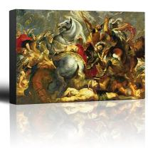 wall26 - Oil Painting of Victory and Death of The Consul Decius Mus at The Battle by Peter Paul Rubens - Baroque Style-Catholic - Canvas Art Home Decor - 32x48 inches