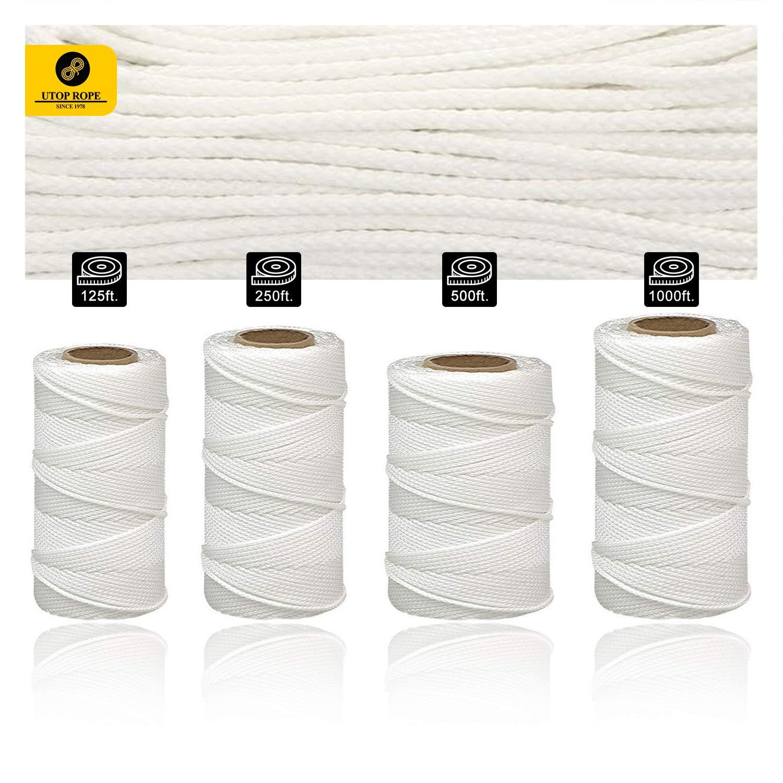 Utop Rope 100% Nylon Braided Mason Line | Heavy Duty Rosary String for Masonry, Construction, Home Improvement | General Purpose Twine String