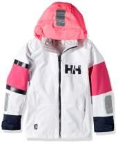 Helly-Hansen unisex-child Jr Salt Coast Waterproof Sailing Rain Jacket With Hood