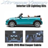 Xtremevision Interior LED for Mini Cooper Cabrio 2009-2015 (7 Pieces) Cool White Interior LED Kit + Installation Tool
