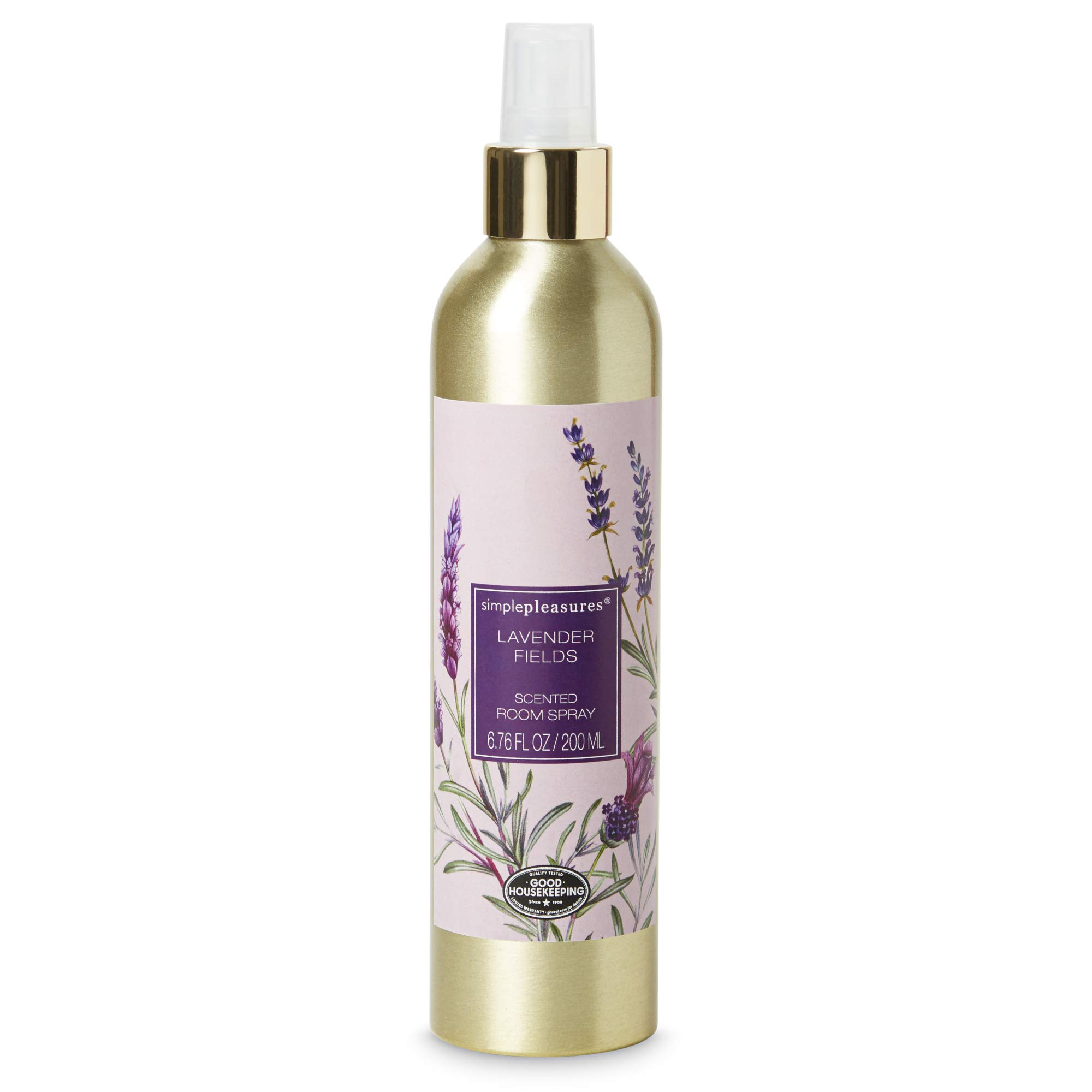 Simple Pleasures Scented Room Spray/Air Freshener For Bedrooms, Bathrooms, Kitchen, Laundry Room - Calming Lavender Fields Fragrance and Natural Odor Eliminator- Granted The Good Housekeeping Seal