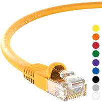 InstallerParts Ethernet Cable CAT5E Cable UTP Booted 7 FT - Yellow - Professional Series - 1Gigabit/Sec Network/Internet Cable, 350MHZ