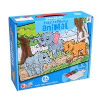 Ingooood - Jigsaw Puzzles for Kids Come with 12 Coloring Markers - Great Girl Gift, Fun Creative Toys & Art Set - Child Game Decompression Leisure Entertainment Childrens Gifts (Animal)
